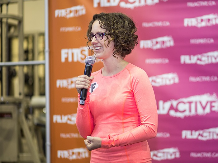 Claudine Labelle at a Fillactive event